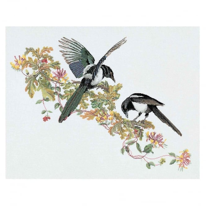 1075A Thea Gouverneur Magpie Cross Stitch Kit