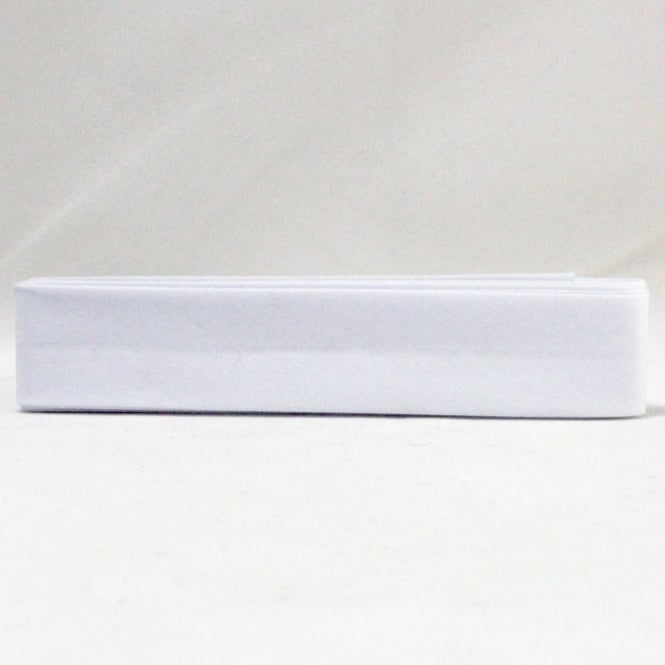 2.5m x 25mm Bias Binding - White