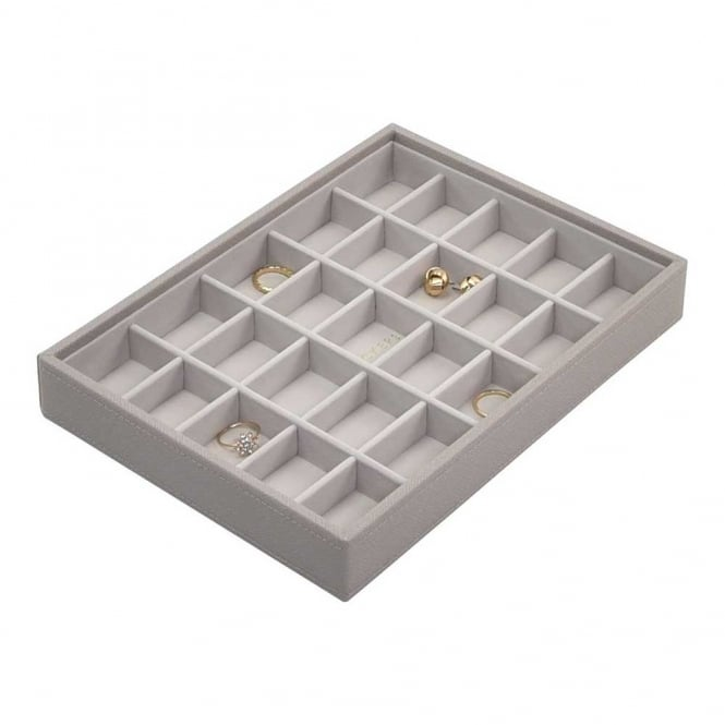 25 Section Jewellery Stacker Taupe/Grey
