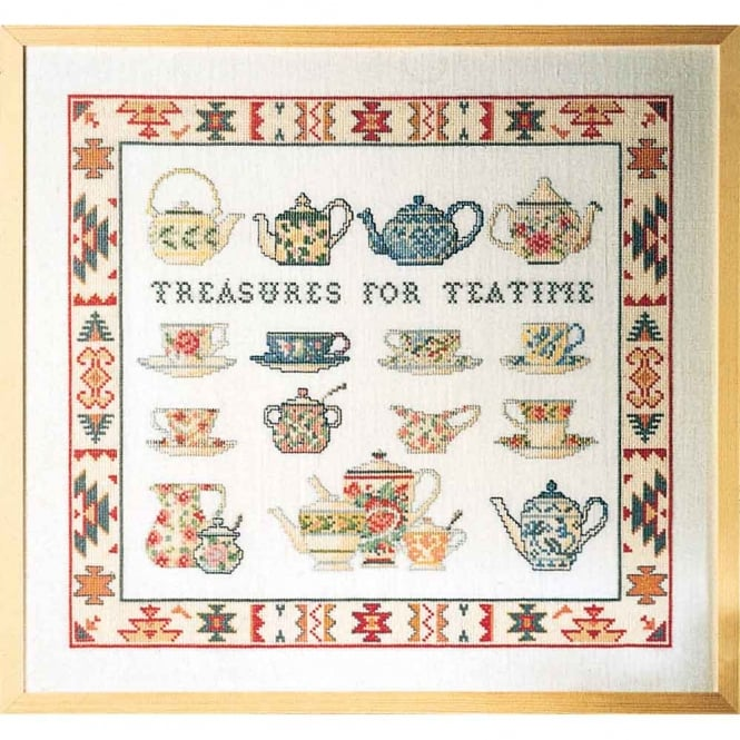 39-2410 Permin Tea-Time Cross Stitch Kit