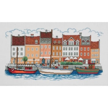 70-3179 Permin The Harbour Cross Stitch Kit