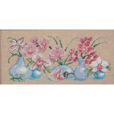 70-5126 Permin Orchids Cross Stitch Kit
