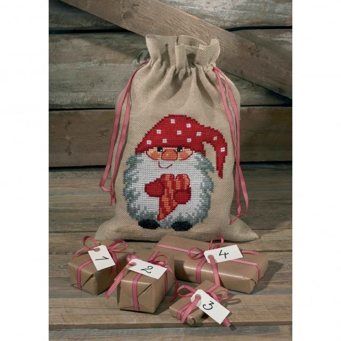 90-4259 Permin Heart Elf Cross Stitch Kit