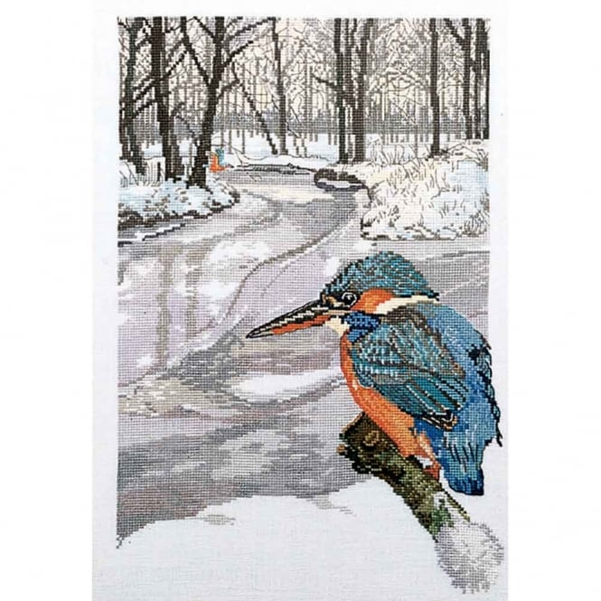 90-6113 Permin Kingfisher Cross Stitch Kit