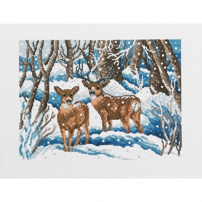 92-5411 Permin Winter Forest Cross Stitch Kit
