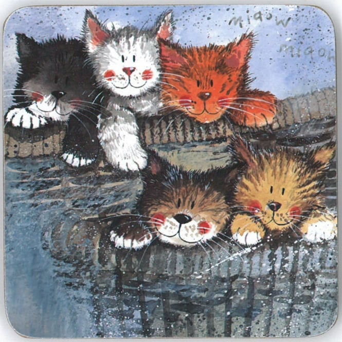 Alex Clark Kittens Coaster