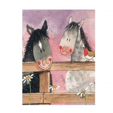 Alex Clark Small Chunky Notebooks Horse Whispers