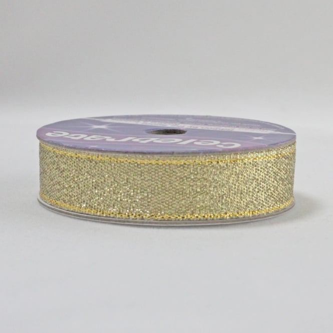 All Metallic Ribbon 13mm x 5m - Gold