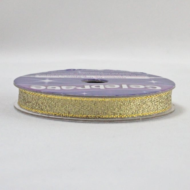 All Metallic Ribbon 7mm x 6m - Gold