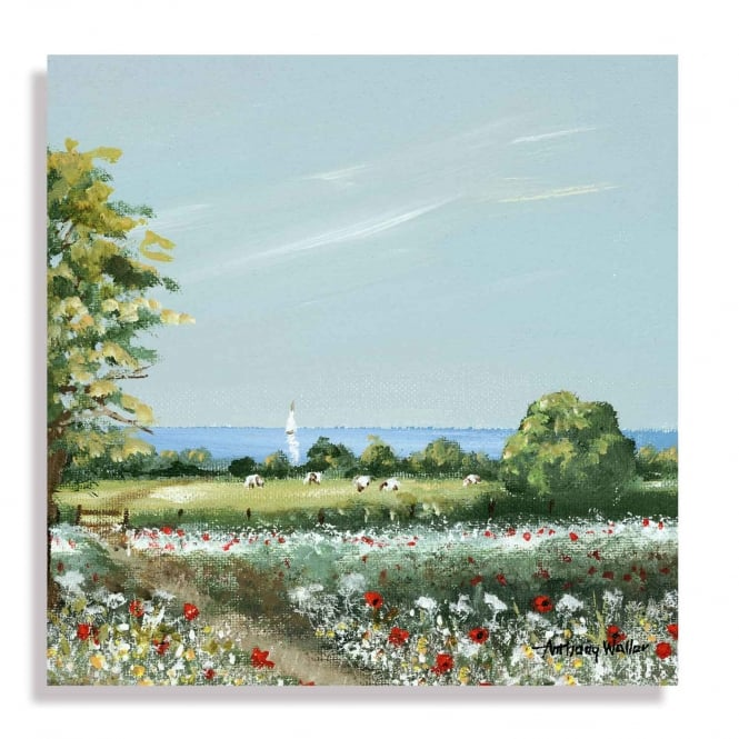 Anthony Waller Wild Flower Meadow Canvas Print