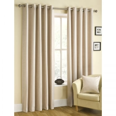 Arley Plain Prosecco Eyelet Ready Made Curtains
