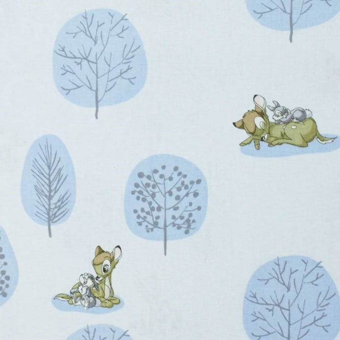 Bambi Forest Scene Cotton Fabric