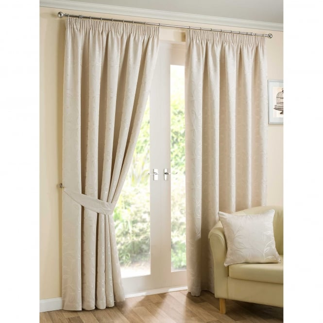 Belfield Elizabeth Natural Ready Made Curtains