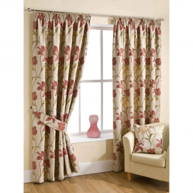 Belfield Lily Chintz Cream Ready Made Curtains