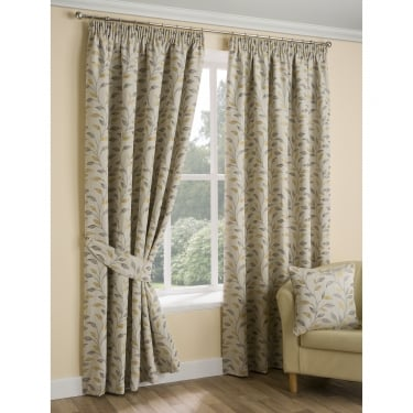 Loxwood Leaf Trail Natural Hay Ready Made Curtains