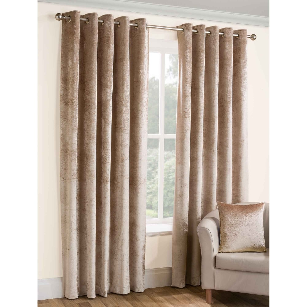 Opulence Champagne Eyelet Ready Made Curtains