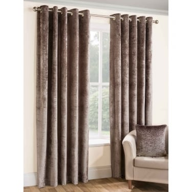 Opulence Praline Eyelet Ready Made Curtains