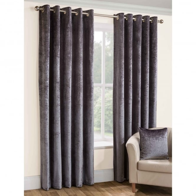 Belfield Opulence Silver Eyelet Ready Made Curtains
