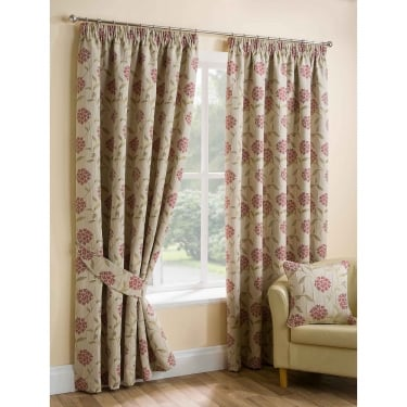 Paloma Red Ready Made Curtains