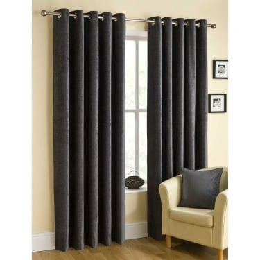 Rico Eyelet Pewter Grey Ready Made Curtains