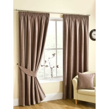 Rico Mink Brown Ready Made Curtains