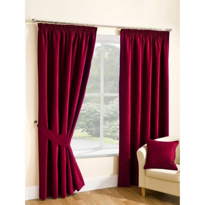 Belfield Rico Rouge Red Ready Made Curtains