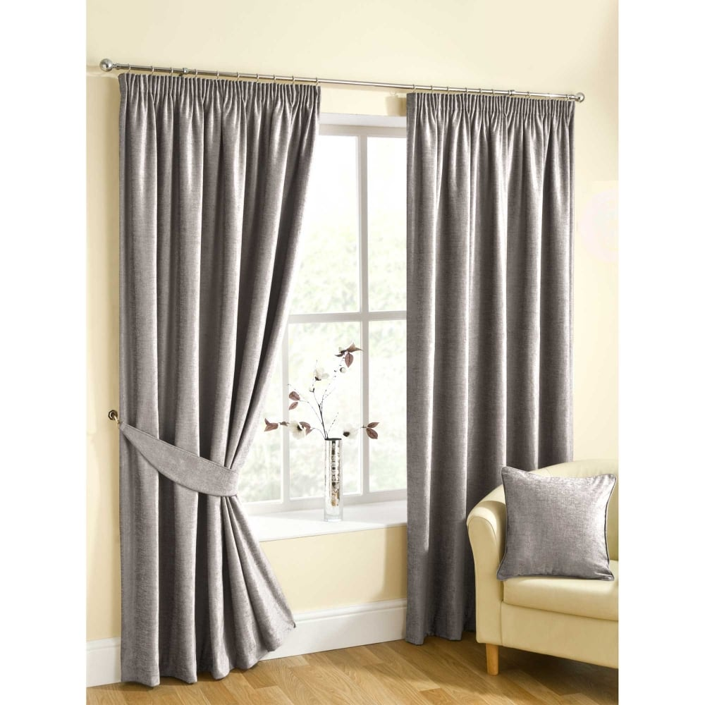Rico Silver Ready Made Curtains Grey | Closs & Hamblin