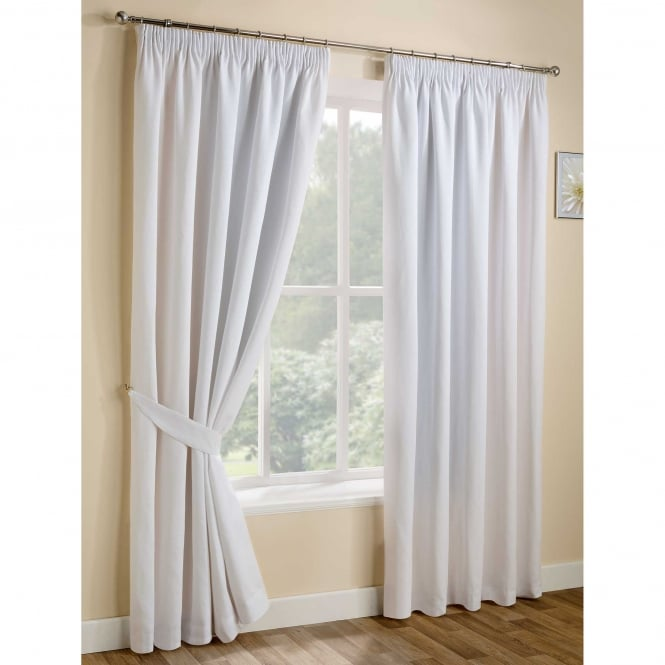 Belfield Urban White Ready Made Curtains