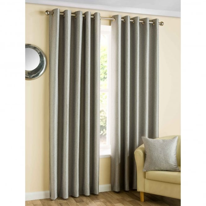 Belfield Ziggi Eyelet Graphite Grey Ready Made Curtains