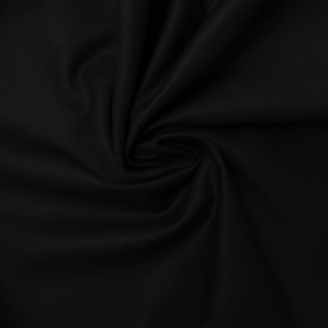 Black Cotton Twill Plain Fabric