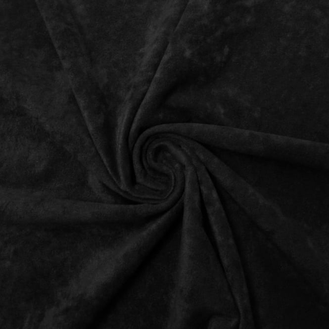 Black Faux Suede Fabric