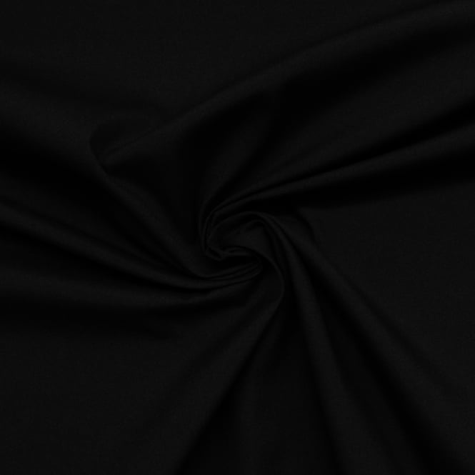 Black Plain Poplin Fabric