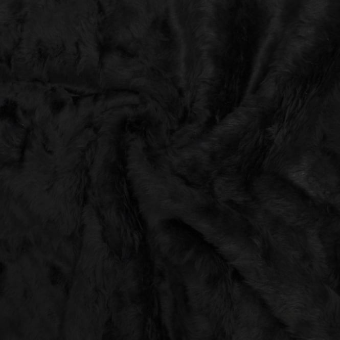 Black Short Pile Fur Fabric