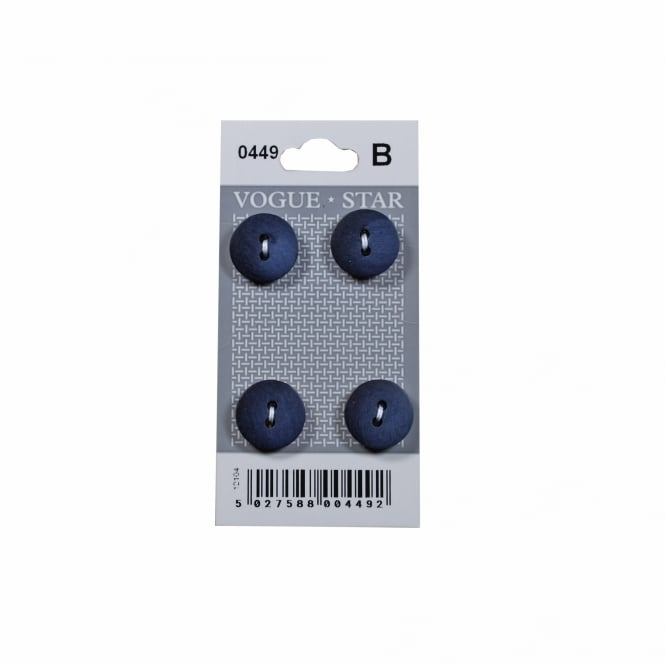 Blue Buttons 0449 (Pack/4)