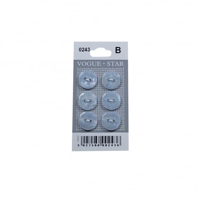 Blue Mother of Pearl Effect Buttons 0243 (Pack/6)