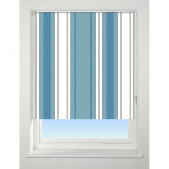 Blue Stripes Blackout Roller Blinds