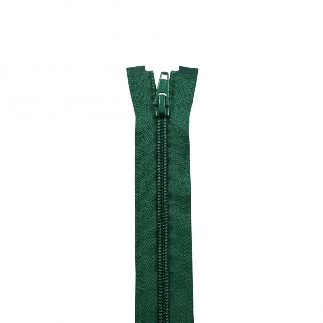 Bottle Green Nylon Open End Zips