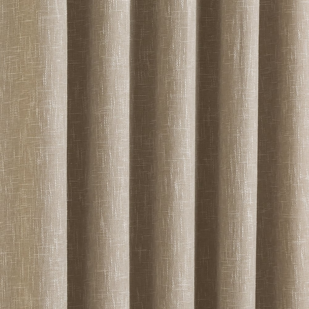 Boucle Parchment Plain Natural Ready Made Eyelet Curtains | C&H
