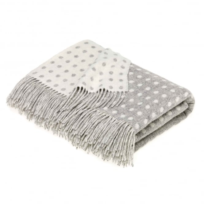 Bronte by Moon Grey Spot Lambswool Throw