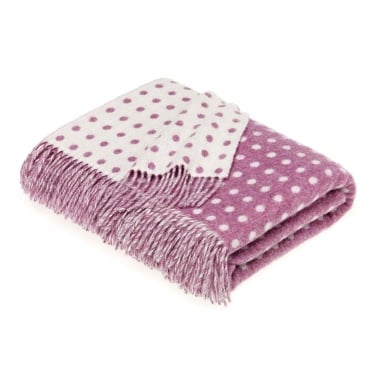 Bronte by Moon Lilac Spot Lambswool Throw