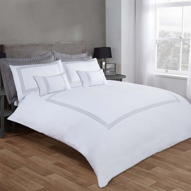 Burlington Silver Super King Duvet Cover