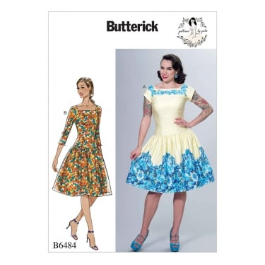 Butterick Pattern 6484 - A5 Size 6 to 14