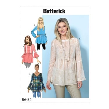 Butterick Pattern 6486 - Y Size XS to M