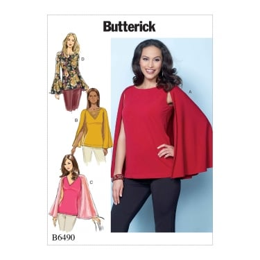 Butterick Pattern 6490 - A5 Size 6 to 14