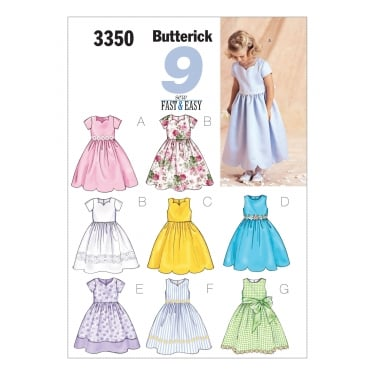 Butterick Sewing Pattern 3350 2 Size 2 - 5 Years
