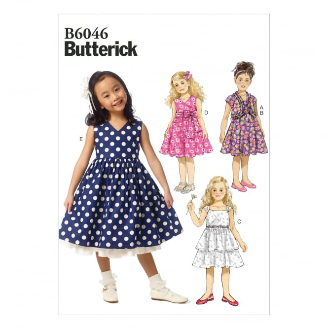 Butterick Sewing Pattern 6046 CL Size 6 - 8 years