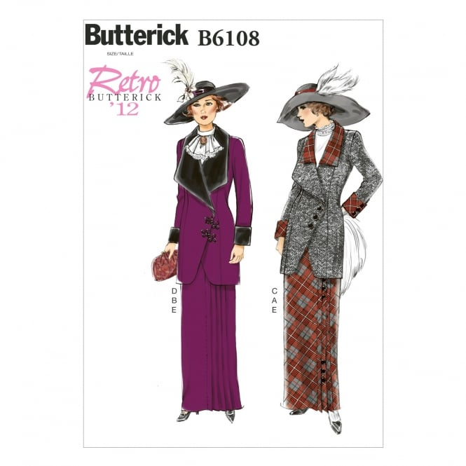 Butterick Sewing Pattern 6108 Size 6-14