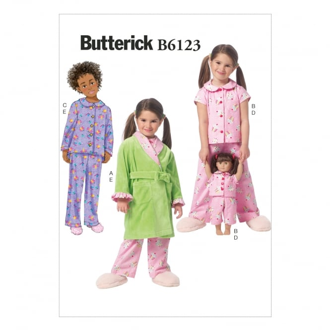 Butterick Sewing Pattern 6123 Size 2 - 5 years