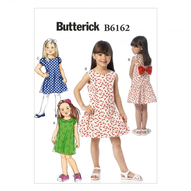 Butterick Sewing Pattern 6162 Size 2-5years