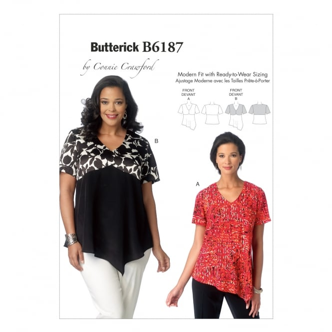 Butterick Sewing Pattern 6187 WMN Size XXL - 6X